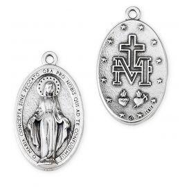 Medalik metalowy Matka Boża Niepokalana 3 cm