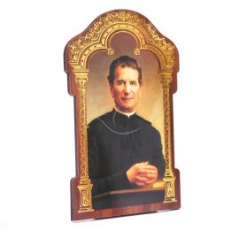 Święty Jan Bosko - Obrazek HDF ze złotą ramką (1)