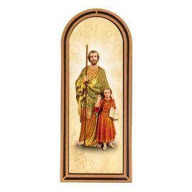 Święty Józef - Obraz półokrągły w ramce HDF (1)