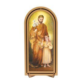 Święty Józef - Obraz półokrągły w ramce HDF (2)