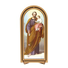 Święty Józef - Obraz półokrągły w ramce HDF (3)