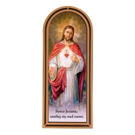 Serce Jezusa - Obraz półokrągły w ramce HDF