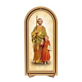 Święty Józef - Obraz półokrągły w ramce HDF (4)