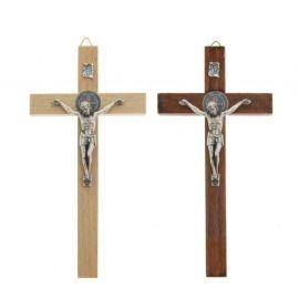 Krzyż św. Benedykta drewniany - 16 cm