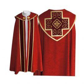 Kapa haftowana wzór gotycki - czerwona (85)