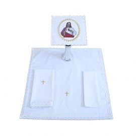 Bielizna kielichowa haftowana - Serce Pana Jezusa