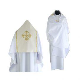 Welon liturgiczny biały/ecru (43)