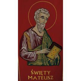 Stuła haftowana z wizerunkiem - Święty Mateusz