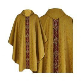 Ornat semi gotycki złoty - tkanina brokat (72)