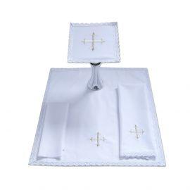 Bielizna kielichowa haft biały Krzyż (20)