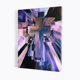Obraz Krzyża w stylu abstrakcyjnym - płótno canvas (18)