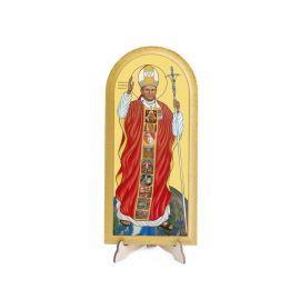Obraz półokrągły Święty Jan Paweł II - Pielgrzym Świata