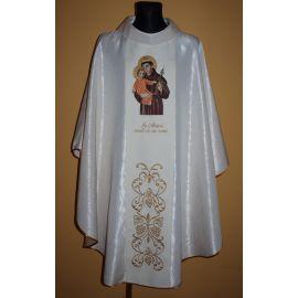 Ornat haftowany z wizerunkiem Świętego Antoniego