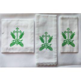 Bielizna kielichowa krzyż zielony