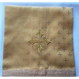 Welon na kielich 45x45 cm - krzyżyki złote
