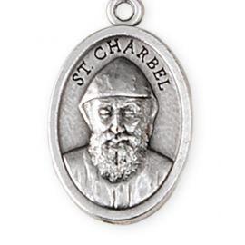 Medalik metalowy św. Charbel