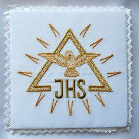 Palka haftowana ecru IHS, Duch Święty (3)