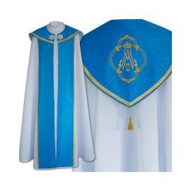 Kapa niebieska wzór Maryjny - tkanina gabardyna (25)