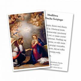 Zesłanie Ducha Świętego - Obrazek z modlitwą