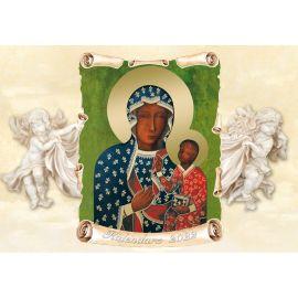 Kalendarz religijny z Matką Bożą Częstochowską