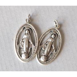 Medalik metalowy Matka Boża Niepokalana 3,5 cm