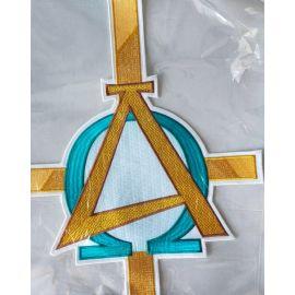 Emblemat haftowany Alfa i Omega