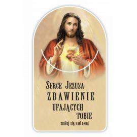 Zakładka papierowa półokrągła - Serce Jezusa