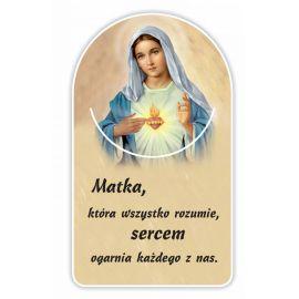 Zakładka papierowa półokrągła - Serce Maryi