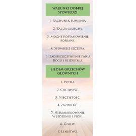 Baner - Warunki Dobrej Spowiedzi i Siedem Grzechów Głównych
