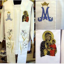 Stuła haftowana Matka Boża Częstochowska (M)