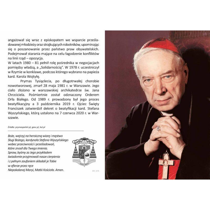 Folder rozkładany — Kardynał Stefan Wyszyński