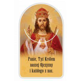 Zakładka papierowa półokrągła - Chrystus Król