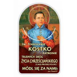 Zakładka papierowa półokrągła - Święty Stanisław Kostka
