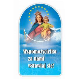 Zakładka papierowa półokrągła - Matka Boża Wspomożycielka