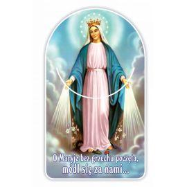 Zakładka papierowa półokrągła - Matka Boża Niepokalana