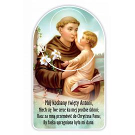 Zakładka papierowa półokrągła - Święty Antoni