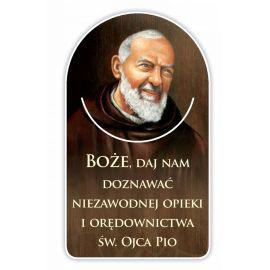 Zakładka papierowa półokrągła - Święty Ojciec Pio