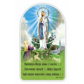 Zakładka papierowa półokrągła - Matka Boża Lourdes