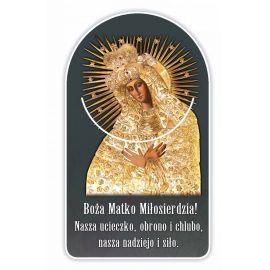 Zakładka papierowa półokrągła - Matka Boża Ostrobramska