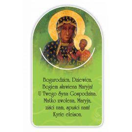 Zakładka papierowa półokrągła - Matka Boża Częstochowska (2)