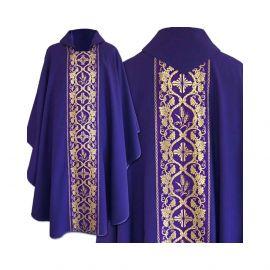 Ornat gotycki, materiał gładki, fiolet (58)