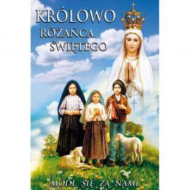 Plakat różańcowy - Królowo Różańca Świętego