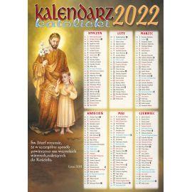 Kalendarz katolicki św. Józef - B4 na 2022 rok