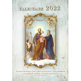 Kalendarz katolicki św. Rodzina na rok 2021 - wiszący, format A4