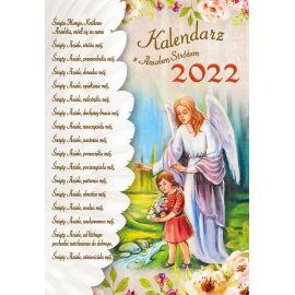 Kalendarz katolicki z Aniołem Stróżem na rok 2021 - wiszący, format A4