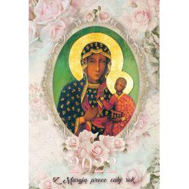 Kalendarz katolicki Matka Boża na rok 2021 - wiszący, format A4