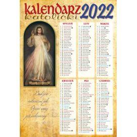 Kalendarz katolicki Jezu Ufam Tobie -  B4 na 2022 rok