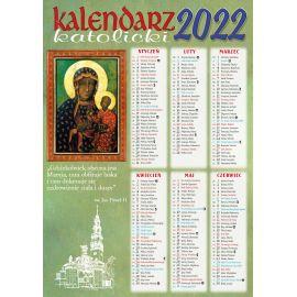 Kalendarz katolicki MB Częstochowska - B4 na 2022 rok