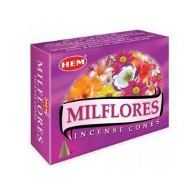 Kadzidło stożkowe Milflores - 10 stożków