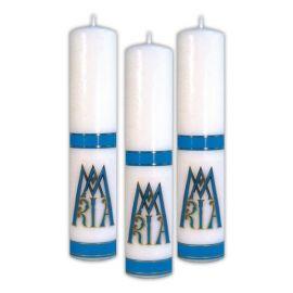 Świeca liturgiczna z naklejką - Maryjna